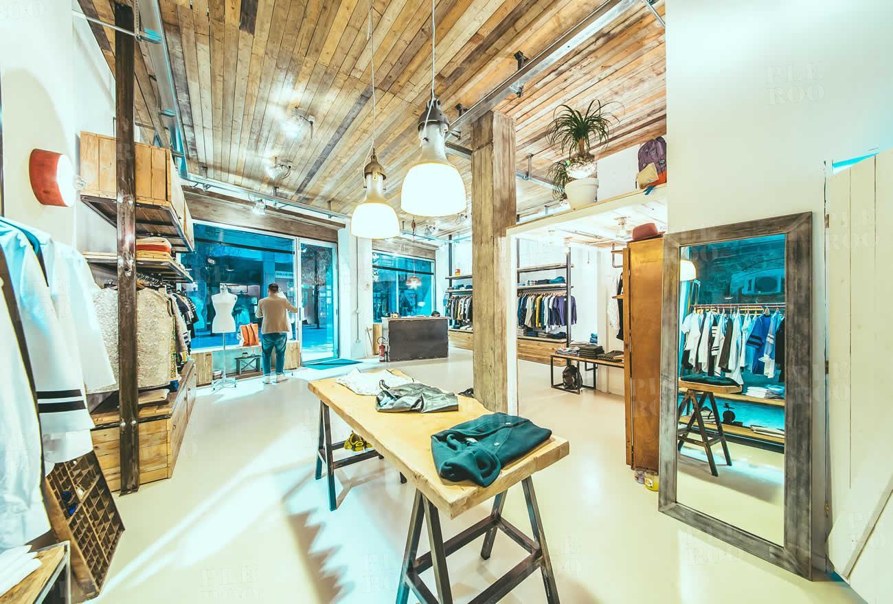 03 civico 8 project store restyling green garden interior for Store arredo